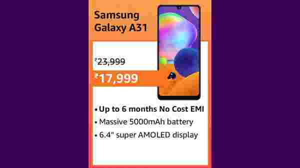 25% Off On Samsung Galaxy A31