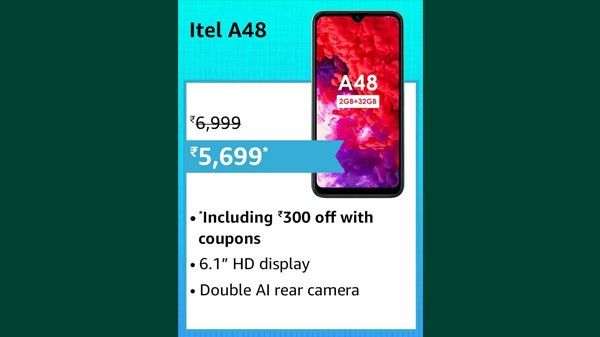 14% Off On itel A48