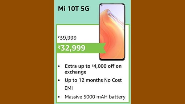 18% Off On Mi 10T 5G