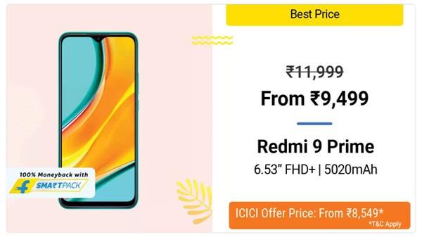 20% Off On Redmi 9 Prime