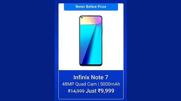 33% Off On Infinix Note 7