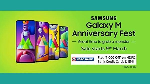 Amazon Samsung M Series Anniversary Sale 2021: Offers On Samsung Phones