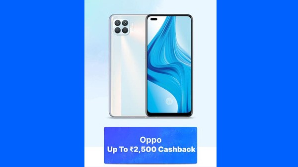 Up To Rs. 2,500 Cashback On Oppo Phones