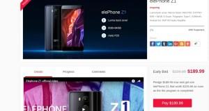 Elephone Z1 Crowdfunding