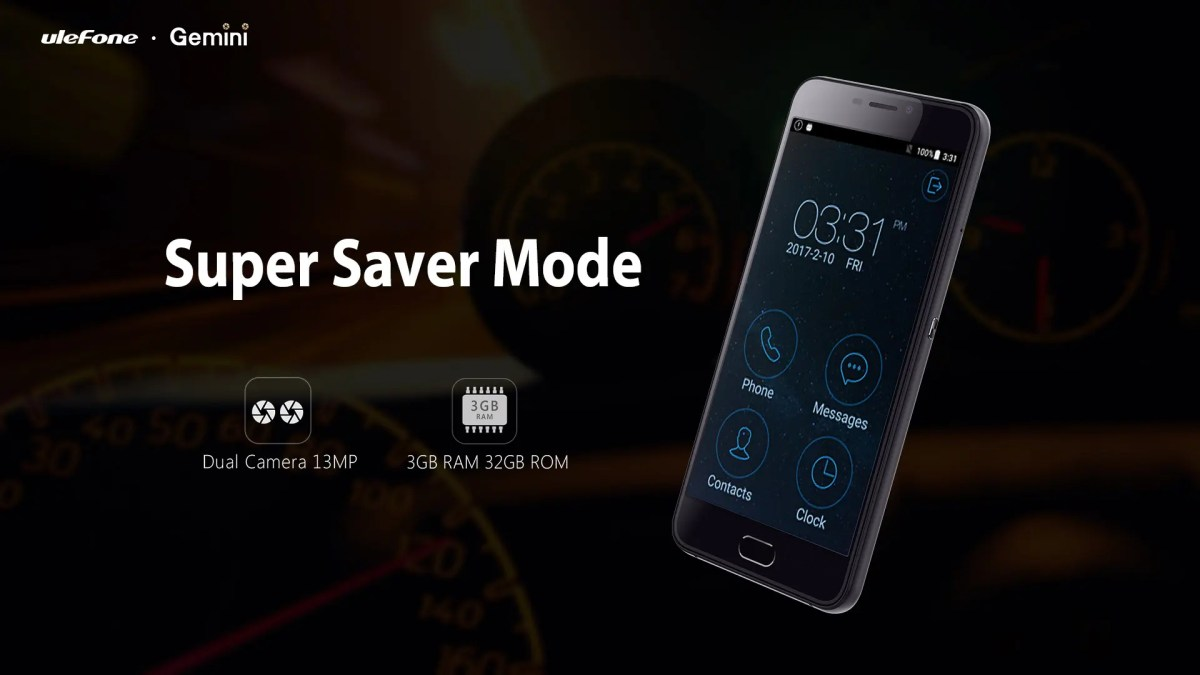'Super Saver Mode' added to the Ulefone Gemini for battery ...