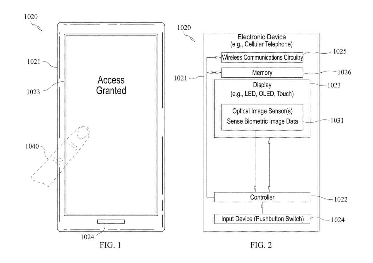 Apple screen fingerprint