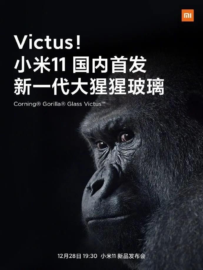 Xiaomi Mi 11 Corning Gorilla Glass 7
