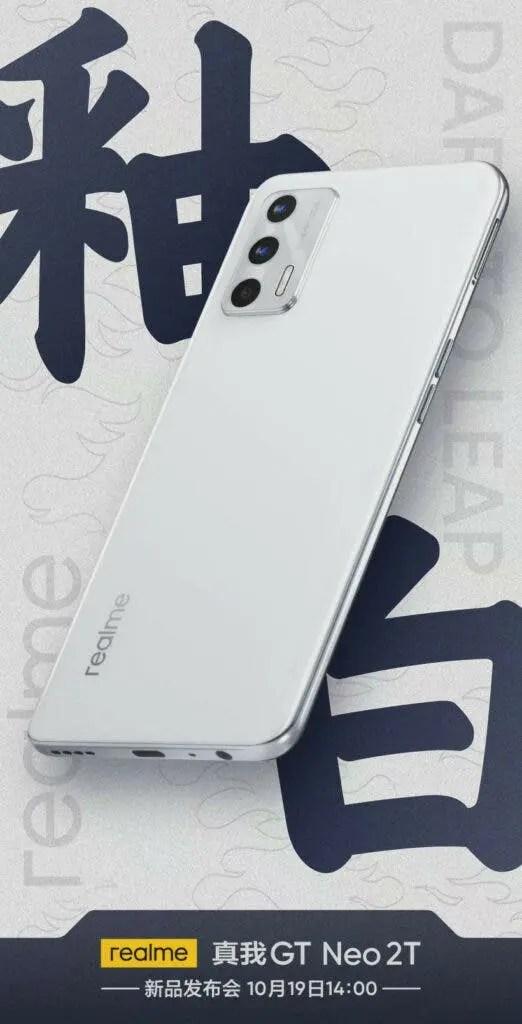 Realme GT Neo2T Glaze White poster