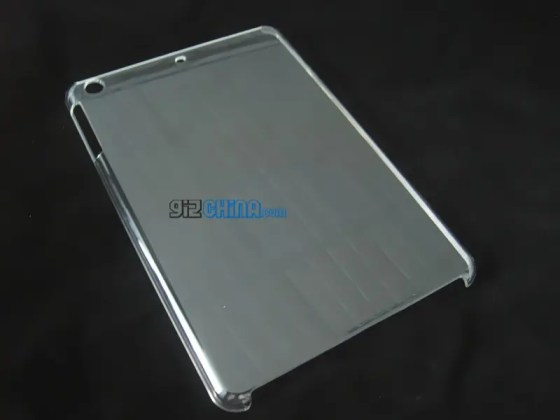 leaked ipad mini caser rear camera mystery hole