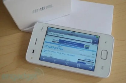 chinese android phone with fake safari browser