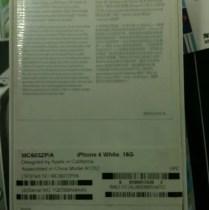 white iphone 4 16Gb box