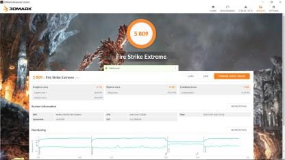 Resultado Firestrike Extreme Drivers Crimson ReLive 16.12.1