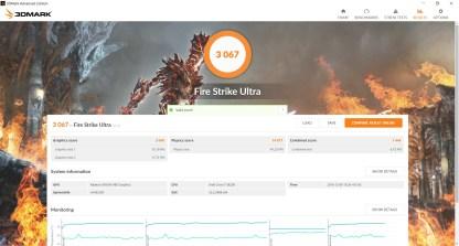 Resultados Firestrike Ultra Drivers Crimson ReLive 16.12.1