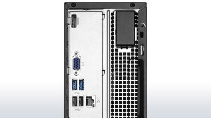 Panel de conexiones trasero, con HDMI y VGA