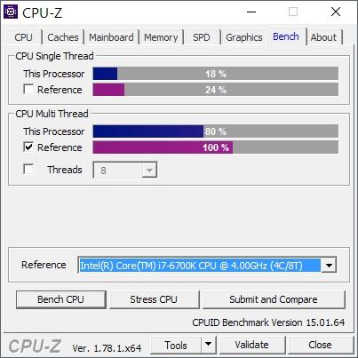 Con tan sólo un consumo de 35-45W, el i7-6700HQ alcanza un 80% del rendimiento de la versión más potente de escritorio de la generación Skylake a la que pertenece: el i7-6700k