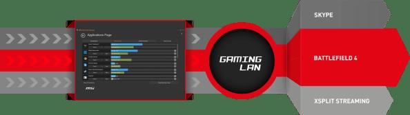 """Algunas de las características """"Gaming"""" de esta placa."""