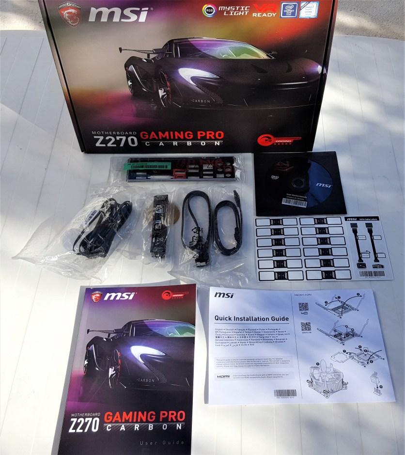 MSI Z270 GAMING PRO CARBON-Intel i5 7600K
