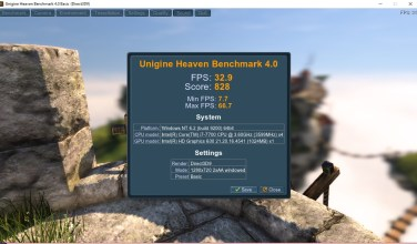 Heaven BenchMark 4.0 , basic preset.