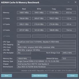 Rendimiento de la RAM con un sólo módulo a 2133Mhz CL15