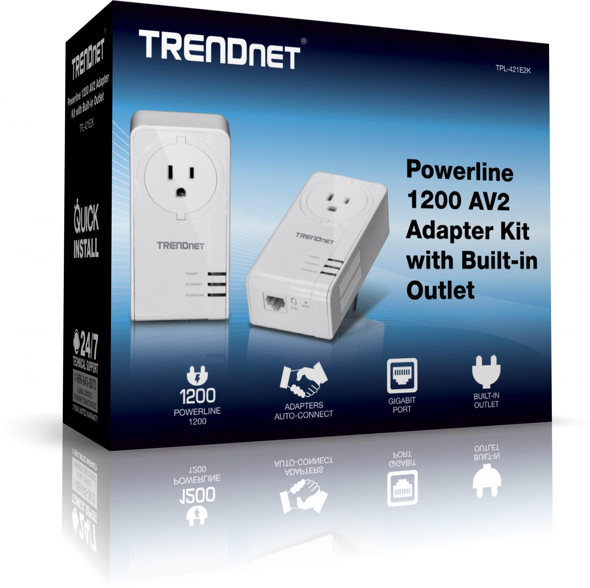Trendnet TPL-421E2K, crea una red Powerline 1200 de rendimiento extremo