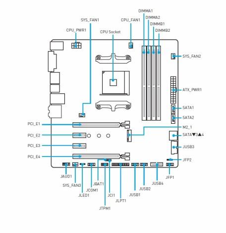 Diagrama de la placa