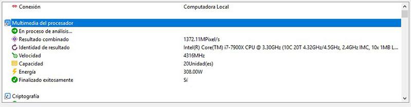 Intel Core i9-7900X Analisis Sandra Platinum 1