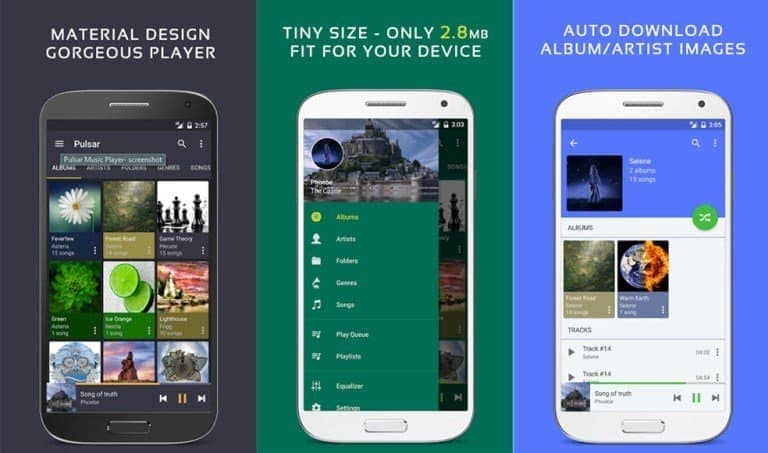 Pulsar Music Player - Top 10 Music Players For Android Device's Best Of 2017