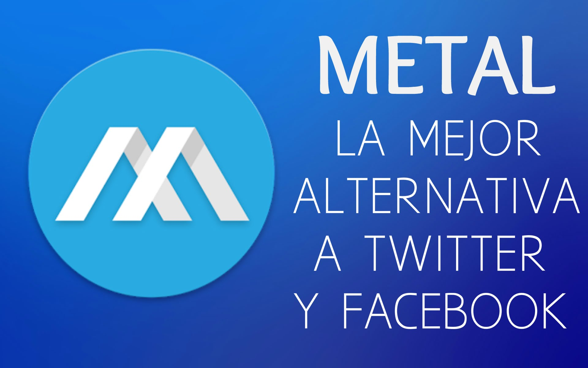 Metal, cliente Facebook-Twitter.