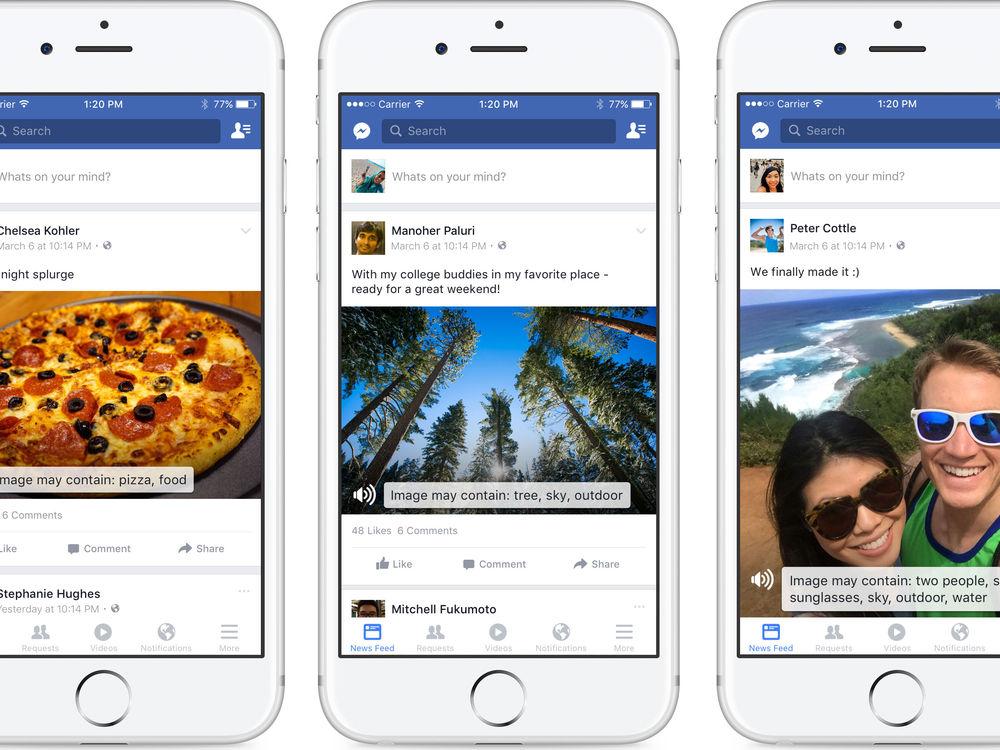 Automatic Alternative Text, Facebook para invidentes