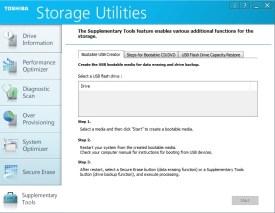 Storage Utilities, una suite que nos ofrece diversas funciones para nuestro SSD Toshiba.