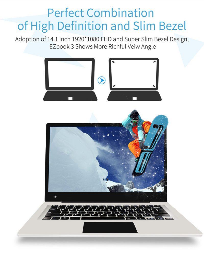 Jumper EZBook 3, panel