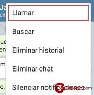como hacer llamadas de telegram
