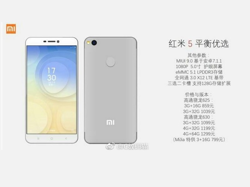 Xiaomi Redmi 5 filtraciones