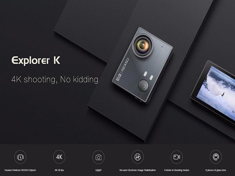 Elephone REXSO, cámara de acción 4k perfecta para aventuras extremas