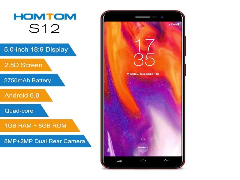 Homtom S12, el smartphone con pantalla 18:9 más barato del mercado