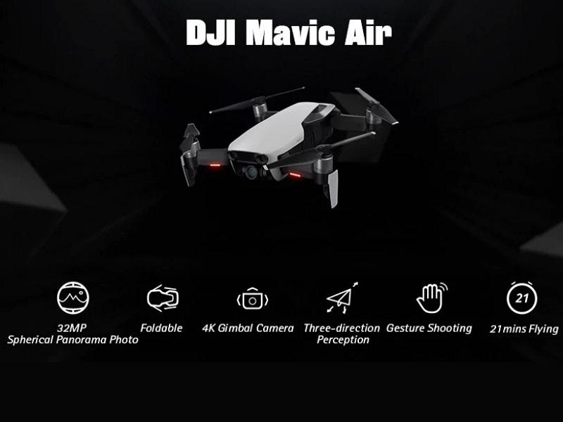 DJI Mavic Air, este es el nuevo dron de DJI que vuela alto