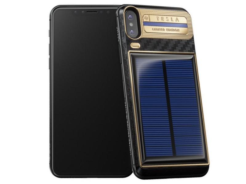 iPhone X Tesla, una versión en carbono, oro y paneles solares