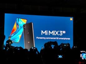 #MWC19: Xiaomi Mi MIX 3 5G, conectividad 5G