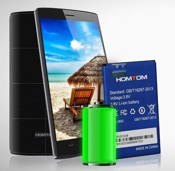 La batterie est un autre des points positifs du Homtom HT7