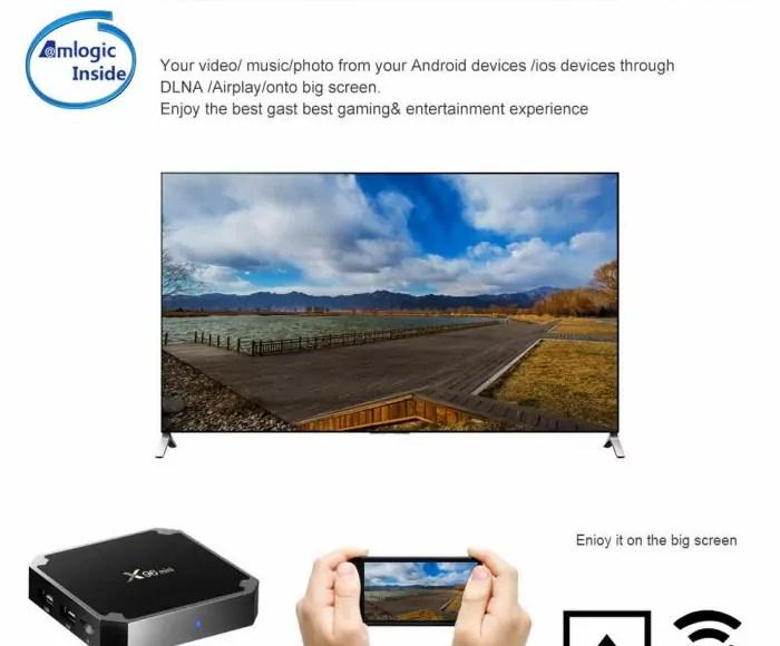 Box TV X96mini Android Amlogic