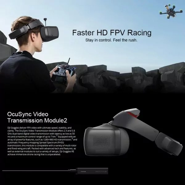 Les lunettes 3 D DJI VR pour vivre le frisson des courses comme jamais