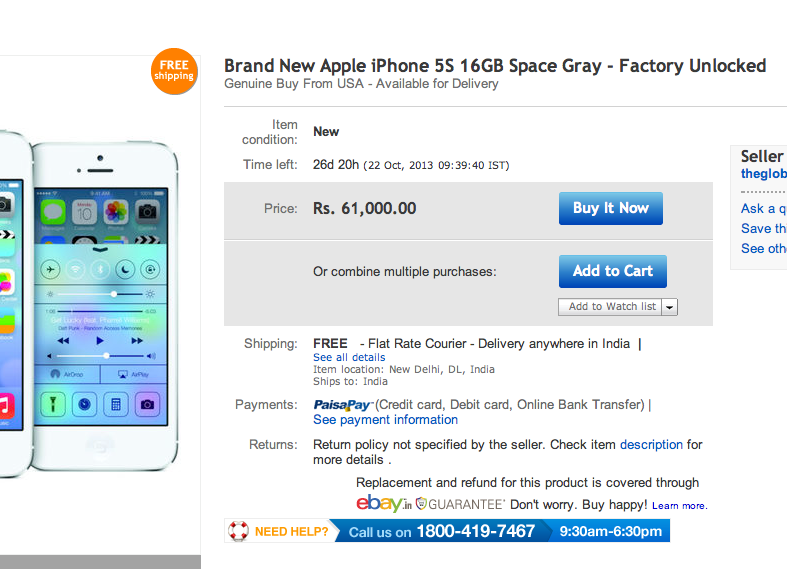 iphone 5s price in usa in rupees