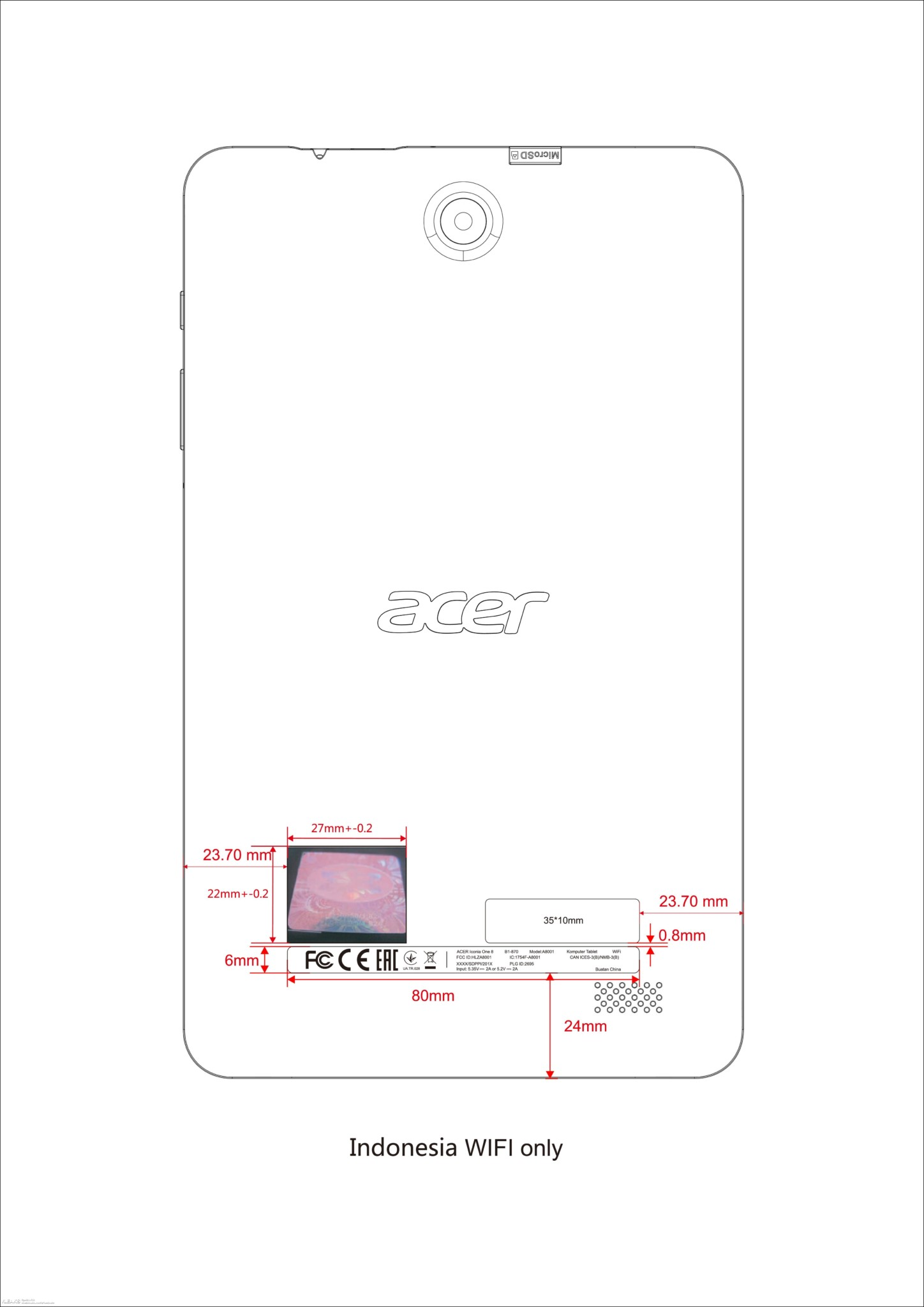 Acer Iconia One 8 Tablet Specs Amp Schematics Seen On