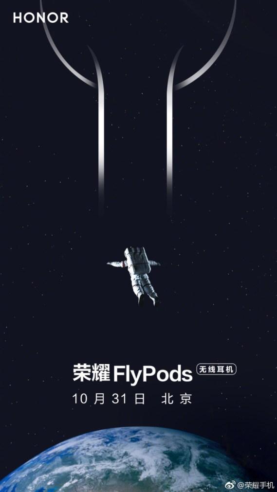 Honor FlyPods, o concorrente dos Airpods serão lançados a 31 de outubro 1
