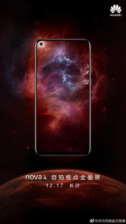 Huawei Nova 4 Launch Date Teaser