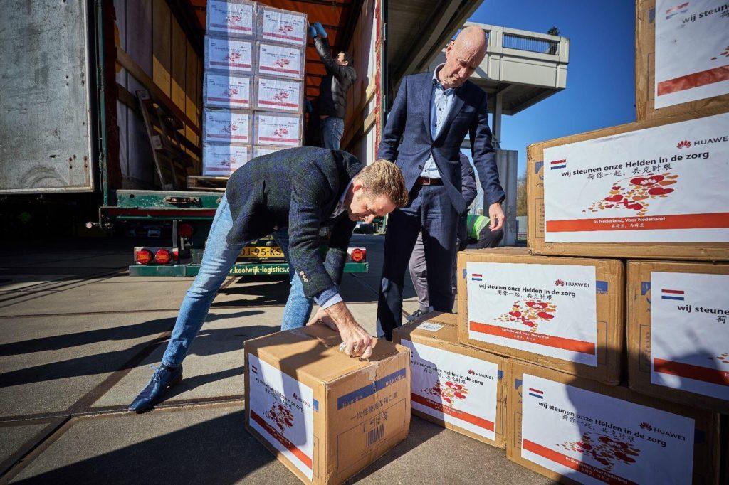 Huawei Donates 800000 Masks to the Netherlands