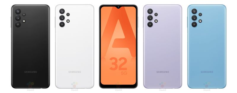 Samsung Galaxy A32 5G front and rear