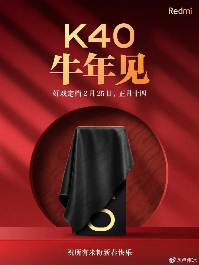 REdmi K40 launch date