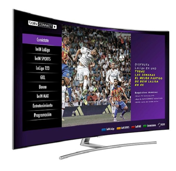 TV de Samsung con Bein Connect para ver un partido de futbol