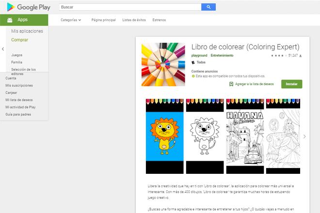 Con más de 400 imágenes, la App Libro de colorear le permite a los niños sacar al artista que llevan dentro